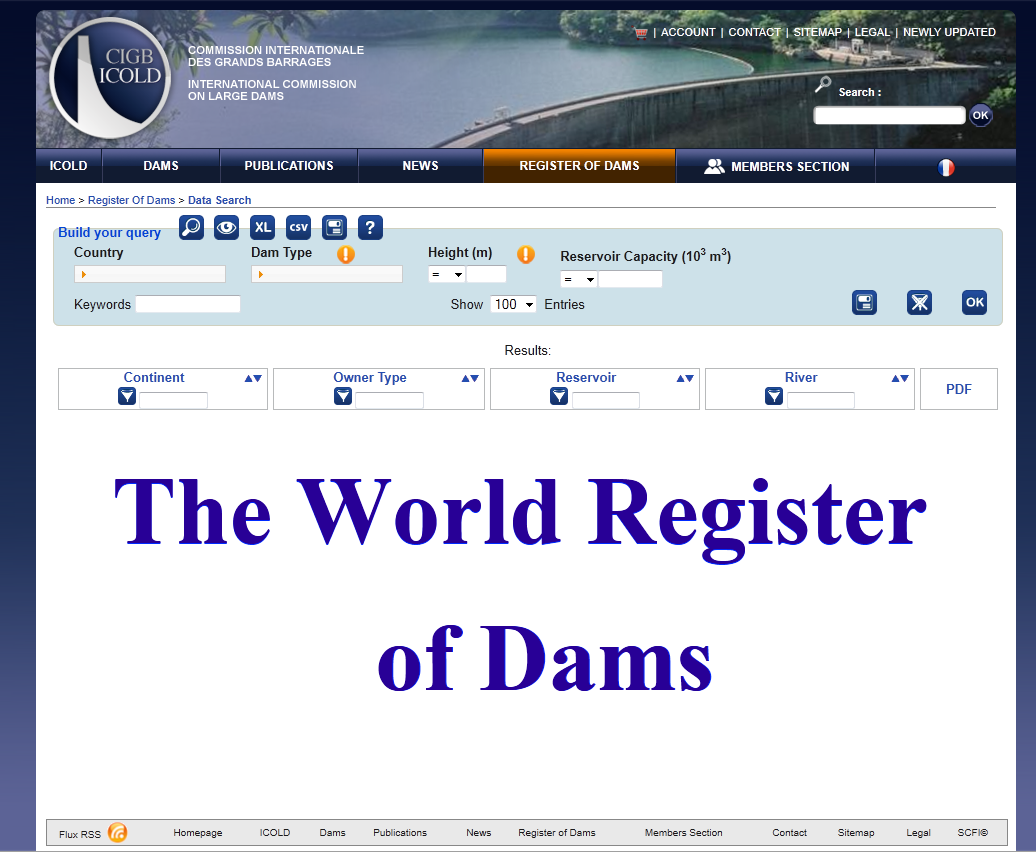 World Register of Dams